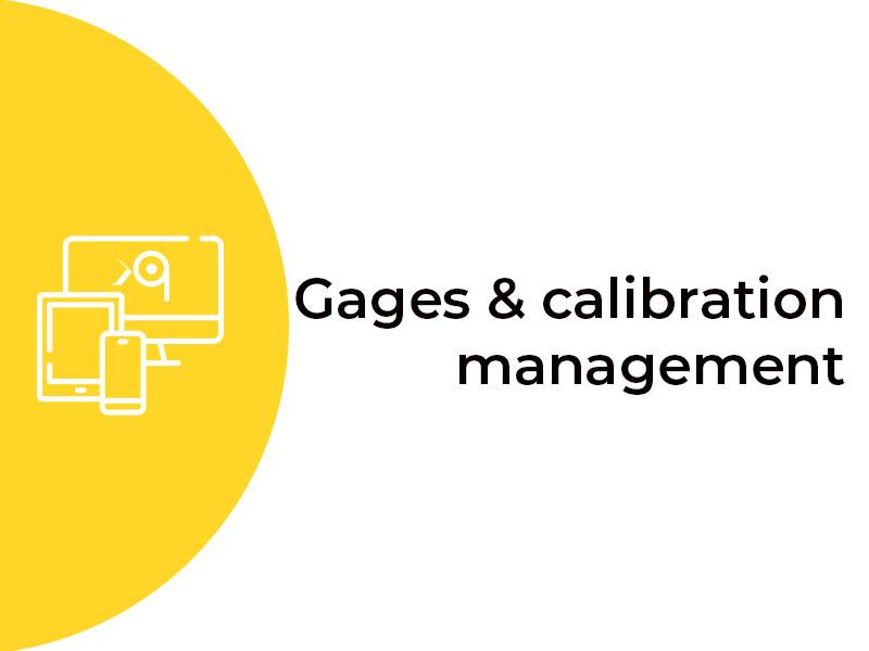 Gages-calibration-management